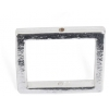 Metal 15.5mm Square Frame With 2 Hole Shiny Silver